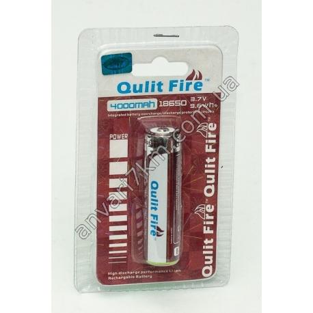 Аккумулятор Qulit Fire 18650 (3.7V, 9.6 wh) 4000 mah