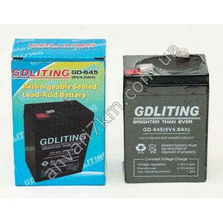 Аккумулятор GDLITING GD-645 (6V, 4.0Ah)