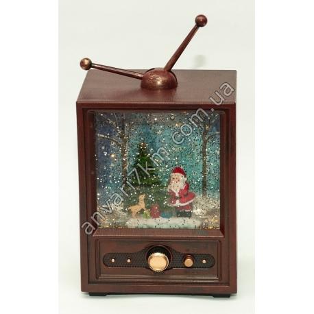 """Новогодняя декоративная игрушка """"Дед Мороз и собака"""""""