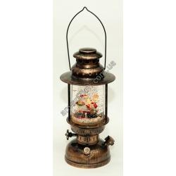 """Новогодняя декоративная лампа """"Санта с оленем"""""""