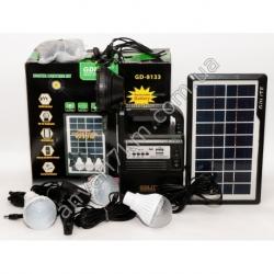 LED фонарь кемпинговый GDLITE GD-8133 + солнечная панель