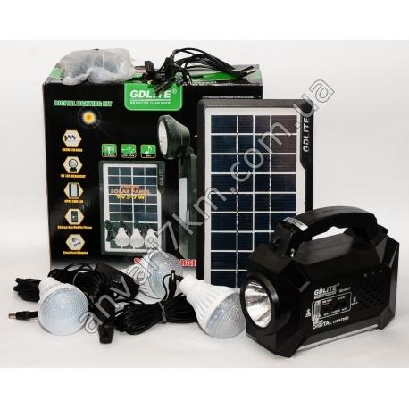 LED фонарь кемпинговый GDLITE GD-8057 + солнечная панель