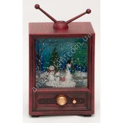№410 Новогодняя игрушка Падает снег (Телевизор)