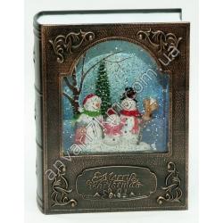 №412 Новогодняя игрушка Падает снег (Книга с снеговиками)
