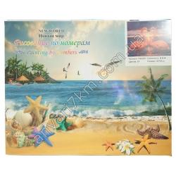 №423 Набор для творчества Рисование по номерам NEW WORLD TCR3097 (24 цветов) (40 х 50 cm)